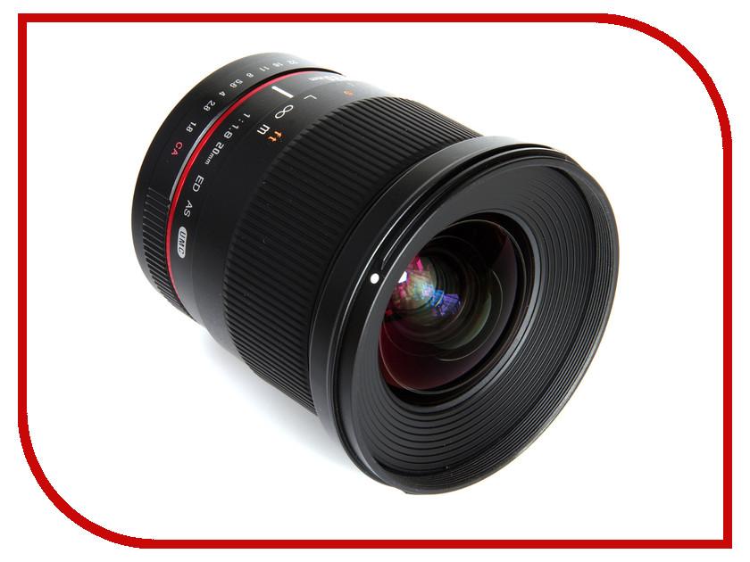 Объектив Samyang Sony / Minolta 20 mm f/1.8 ED AS UMC объектив samyang sony e nex 50 mm f 1 2 as umc cs