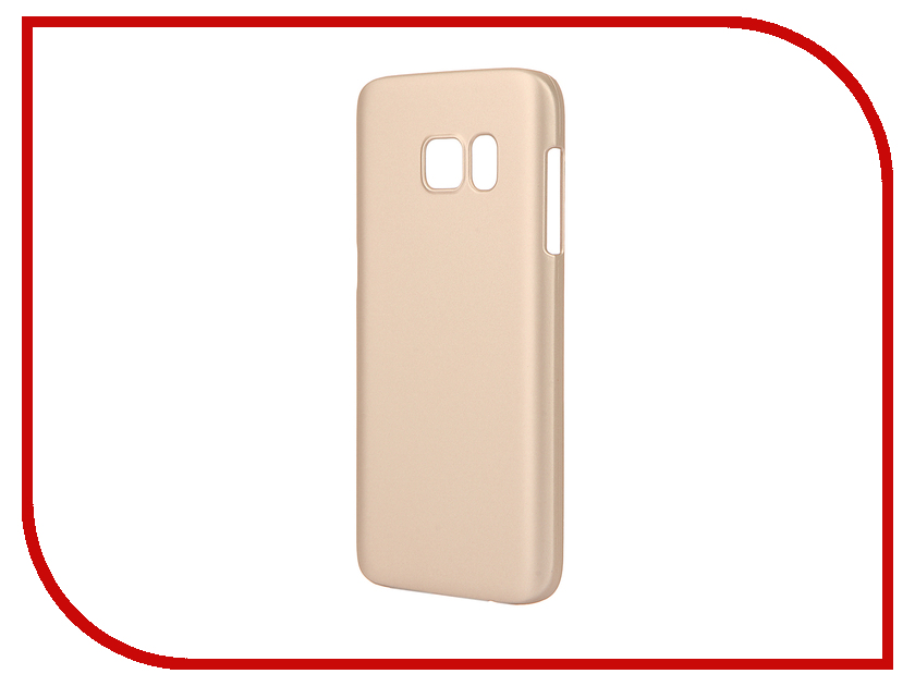 Аксессуар Чехол Samsung Galaxy S7 Pulsar Clipcase PC Soft-Touch Gold PCC0198<br>