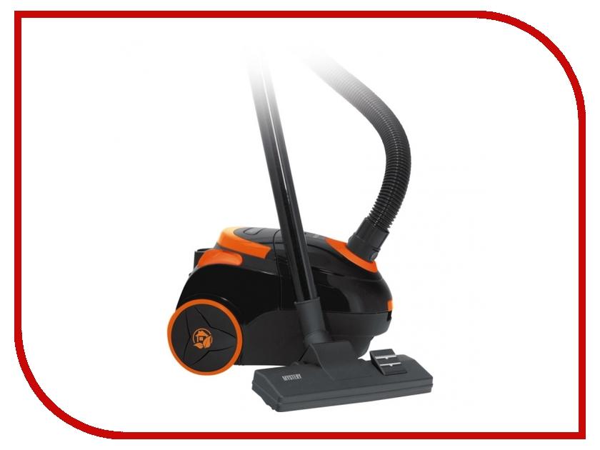 Пылесос Mystery MVC-1122 Black-Orange радиоприемник mystery mba 613ub grey orange