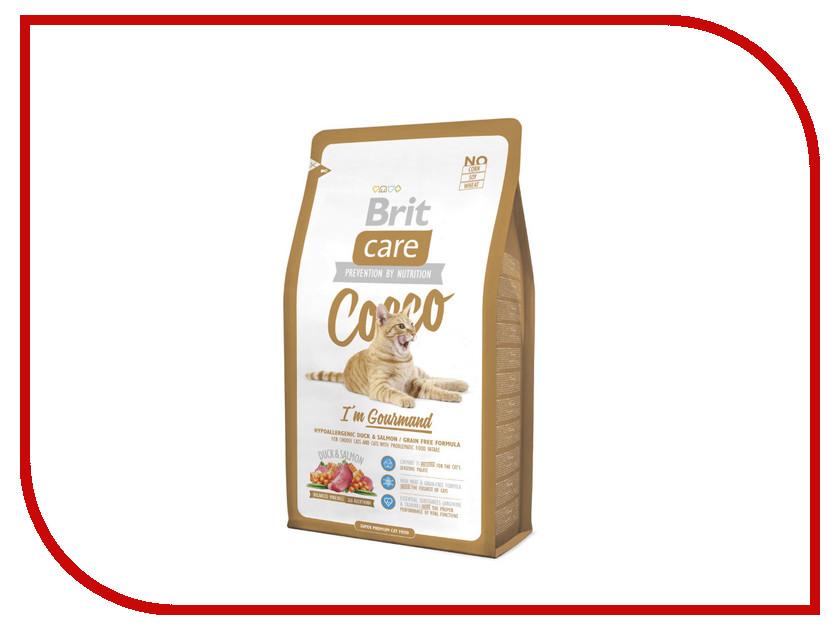 Корм Brit Care Cat Cocco Gourmand 2kg для кошек 132628 сухой корм brit care cat crazy kitten для котят беременных и кормящих кошек 7кг