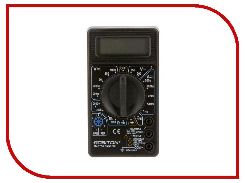 Мультиметр Robiton Master DMM-100 Black  мультиметр defort dmm 600n дмм 600н