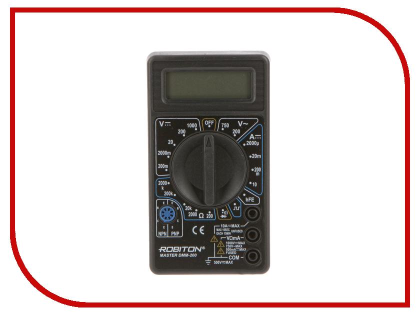 Мультиметр Robiton Master DMM-200 Black  мультиметр defort dmm 600n дмм 600н