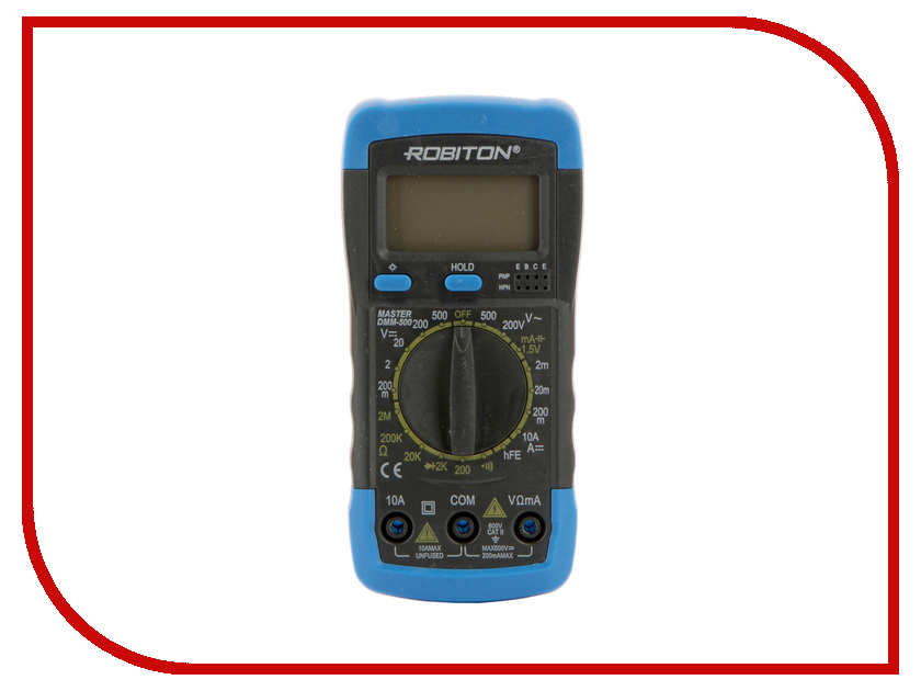 Мультиметр Robiton Master DMM-500 Black  мультиметр defort dmm 1000n