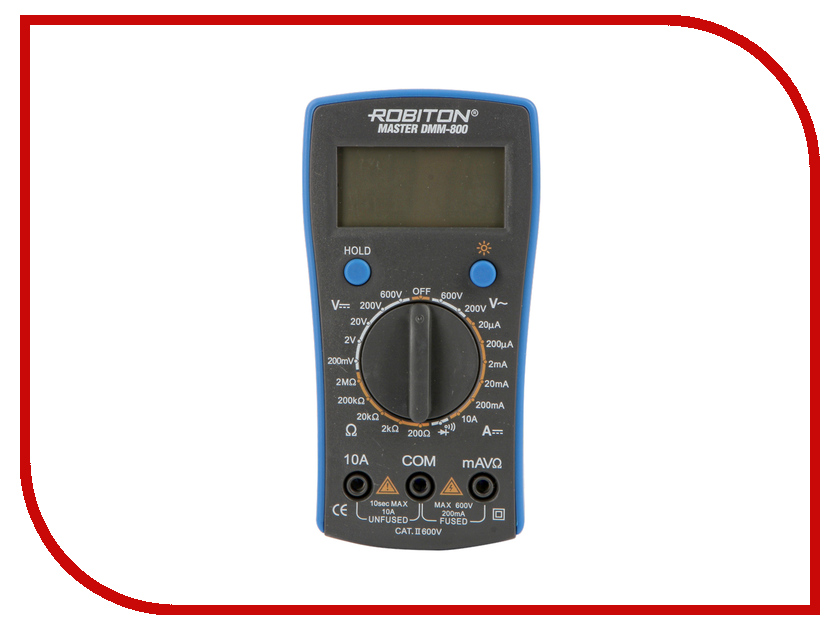 Мультиметр Robiton Master DMM-800 Black my64 digital multimeter dmm frequency capacitance temperature professional meter tester w hfe test