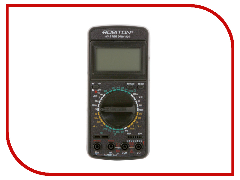 Мультиметр Robiton Master DMM-900 Black  мультиметр defort dmm 1000n