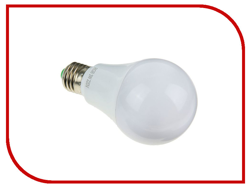 Лампочка Luazon E27-3W-SMD-10-5050-180deg-85-265V 1418300<br>