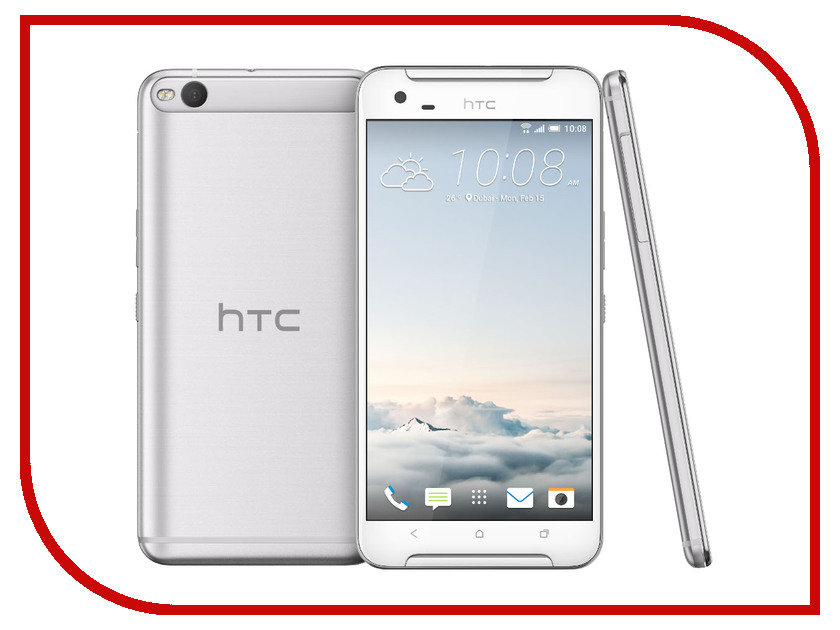 Сотовый телефон HTC One X9 Dual Sim Opal Silver<br>