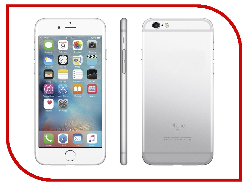 Сотовый телефон APPLE iPhone 6S - 32Gb Silver MN0X2RU/A сотовый телефон apple iphone 7 plus 32gb silver mnqn2ru a