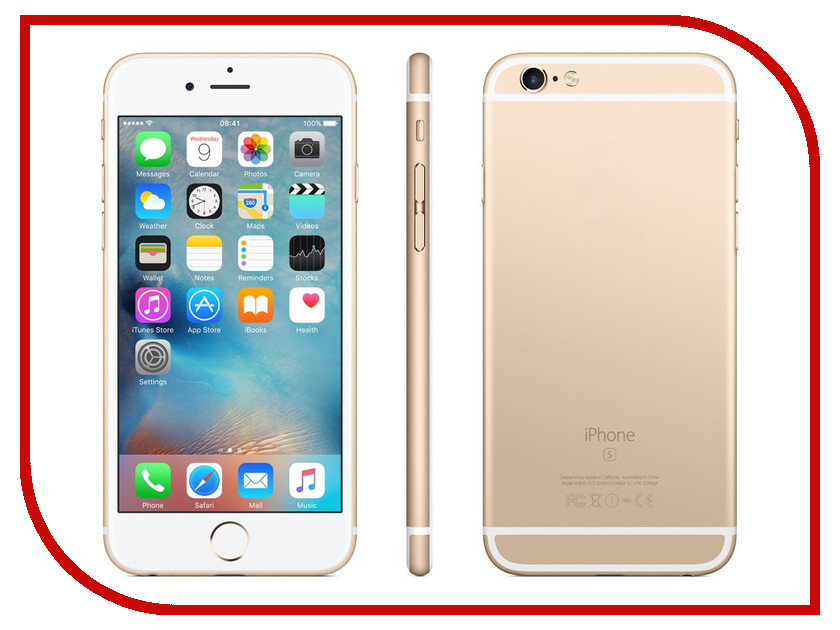 Сотовый телефон APPLE iPhone 6S - 32Gb Gold MN112RU/A сотовый телефон apple iphone 6s 16gb rose gold fkqm2ru a восстановленный