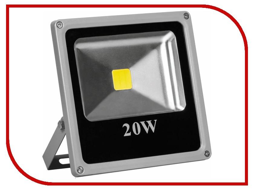 Лампа Feron LL-272 1LED/20W-WHITE 230V 4000K IP65 Grey 15278<br>