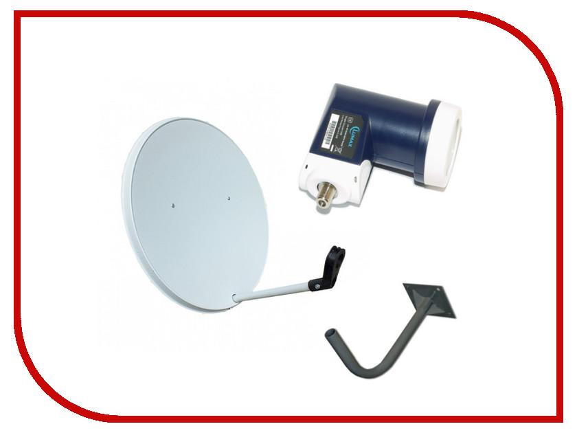Комплект спутникового телевидения Lumax Конвертор круговой LU-40SCIR + Антенна 0.6м + Стеновой кронштейн + Кабель10м<br>