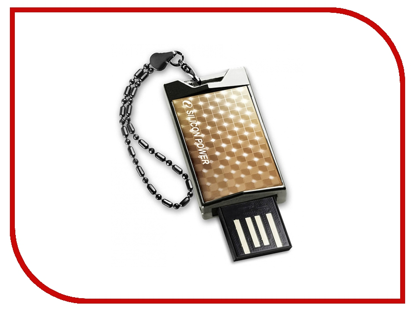 USB Flash Drive 4Gb - Silicon Power Touch 851 Gold SP004GBUF2851V1G<br>