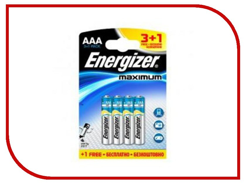 Батарейка AAA - Energizer Maximum Alkaline LR03 634333 (4 штуки)<br>