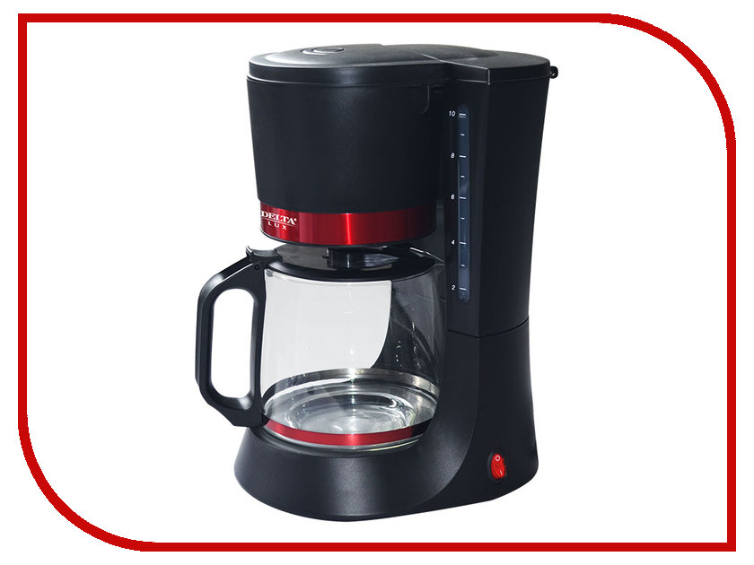 Кофеварка Delta Lux DL-8152 Black-Red тостер delta dl 073 red