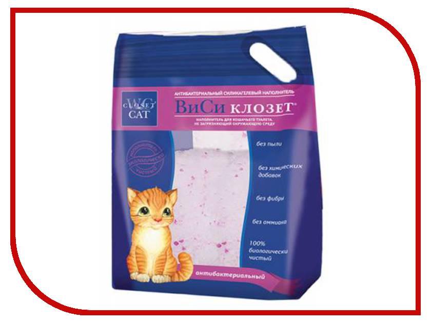 Наполнитель WC 7.6L силикагелевый антибактериальный, розовая полоса 801681/4(Р)