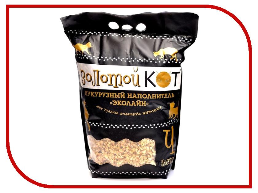 Наполнитель Золотой кот 4л кукурузный для кошек и грызунов 40013