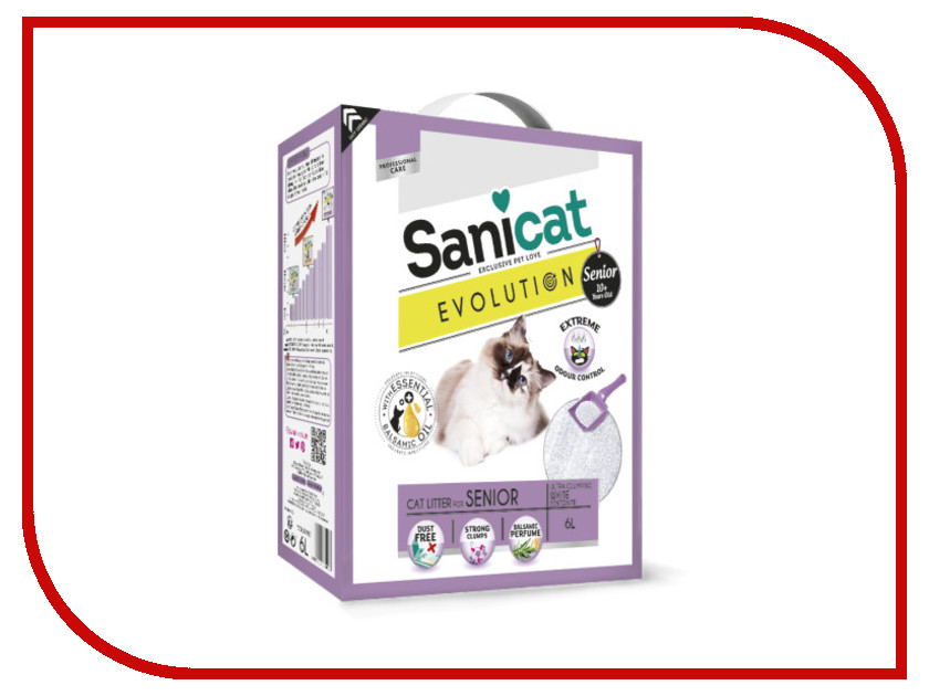Наполнитель Sanicat Evolution Senior 6L 170.006<br>