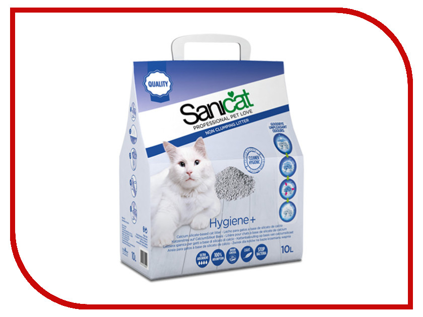 Наполнитель Sanicat Hygiene Plus 10L 170.103