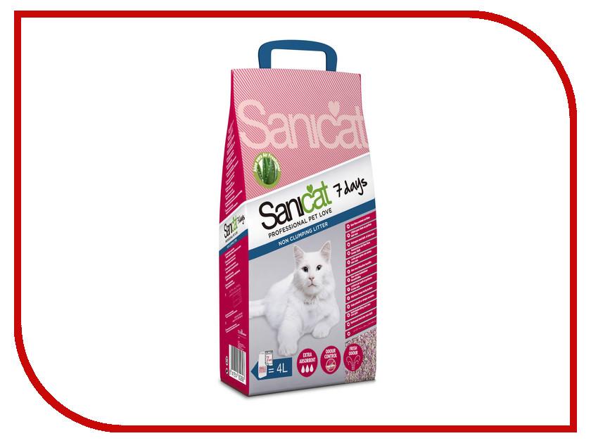Наполнитель Sanicat 7Days Aloe Vera 4L 170.106