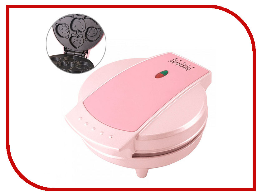 Вафельница Delta Фигурки DL-033 Pink<br>