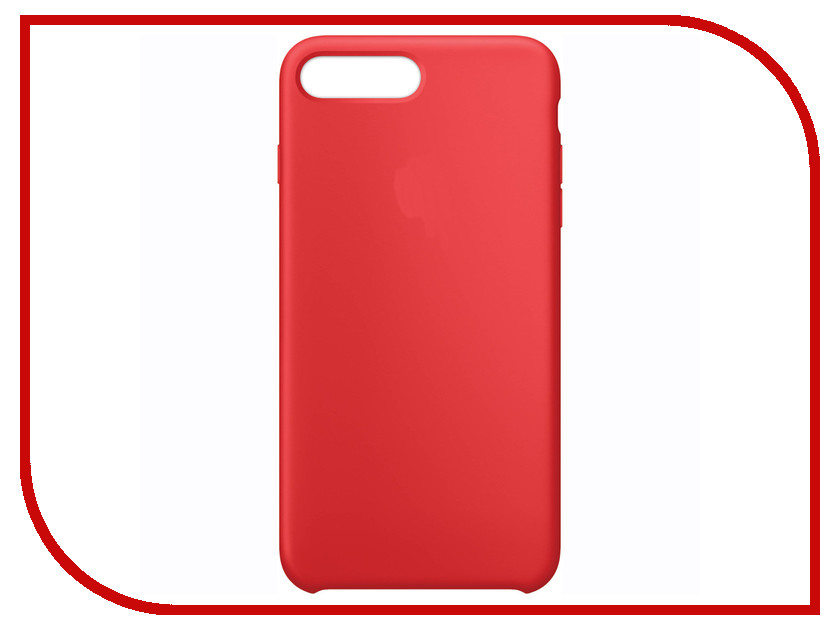 Аксессуар Чехол APPLE iPhone 7 Plus Silicone Case Product Red MMQV2ZM/A<br>