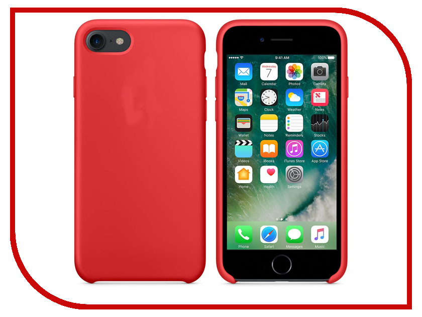 Аксессуар Чехол APPLE iPhone 7 Silicone Case Product Red MMWN2ZM/A<br>