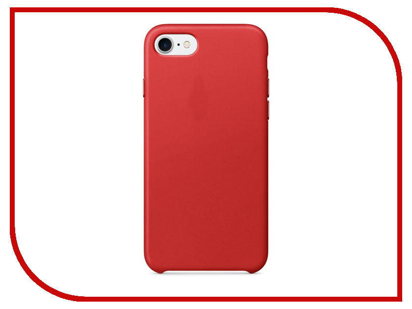 Аксессуар Чехол APPLE iPhone 7 Leather Case Product Red MMY62ZM/A<br>
