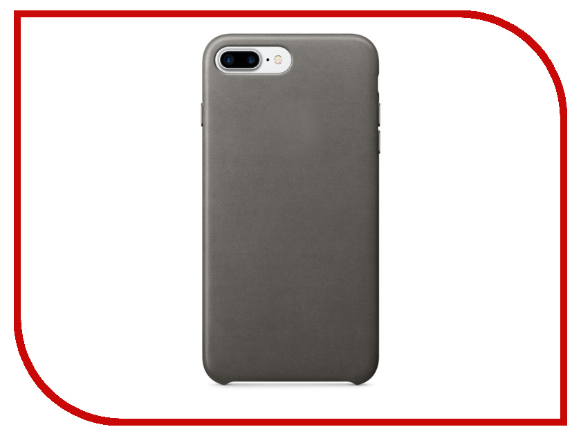 Аксессуар Чехол APPLE iPhone 7 Plus Leather Case Storm Gray MMYE2ZM/A<br>