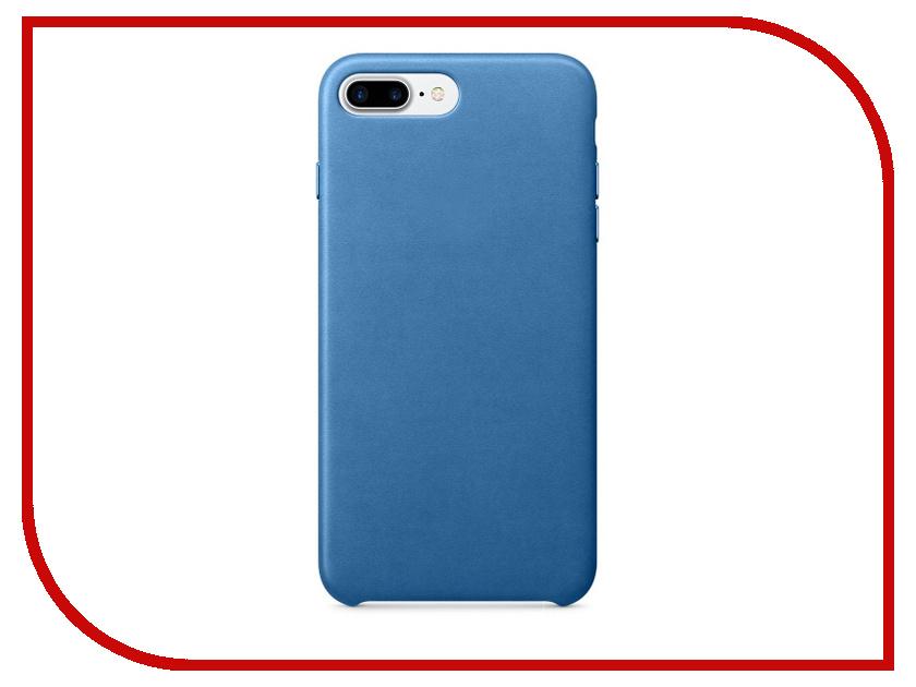 Аксессуар Чехол APPLE iPhone 7 Plus Leather Case Sea Blue MMYH2ZM/A<br>