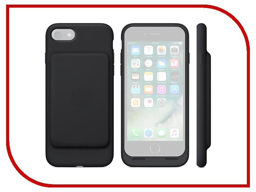 Аксессуар Чехол-аккумулятор APPLE iPhone 7 Smart Battery Case Black MN002ZM/A stylish protective pu leather case for iphone 5c white transparent black