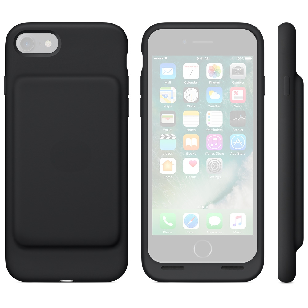 Аксессуар Чехол-аккумулятор APPLE iPhone 7 Smart Battery Case Black MN002ZM/A
