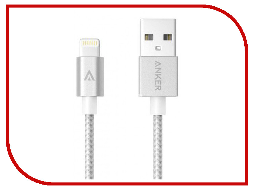 Аксессуар Anker USB - Lightning Apple MFi 1.8m Silver A7114041