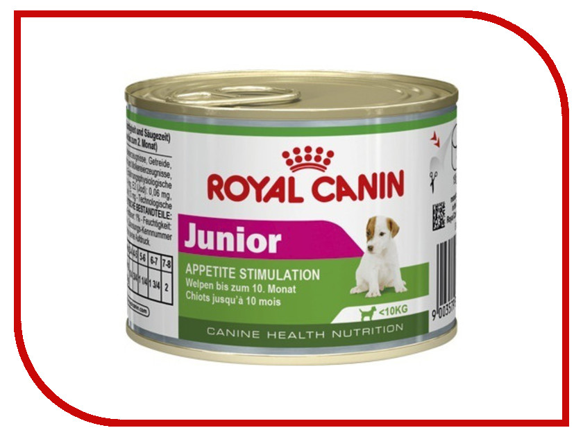 Корм ROYAL CANIN Junior 195g для щенков 777002 royal canin royal canin exigent protein preference