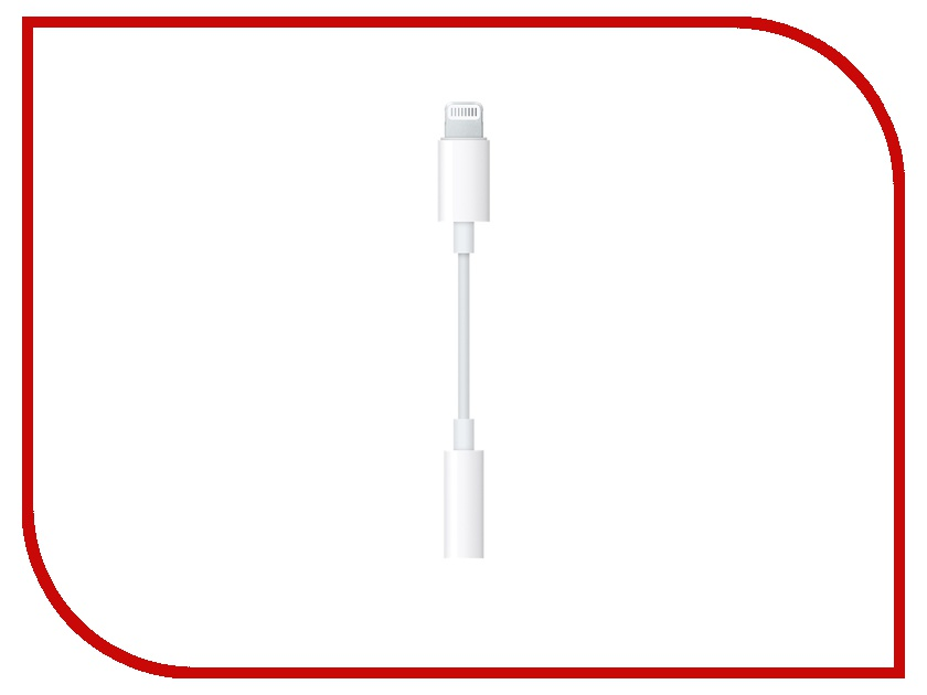 Аксессуар APPLE Lightning to 3.5mm Jack Adapter MMX62ZM/A