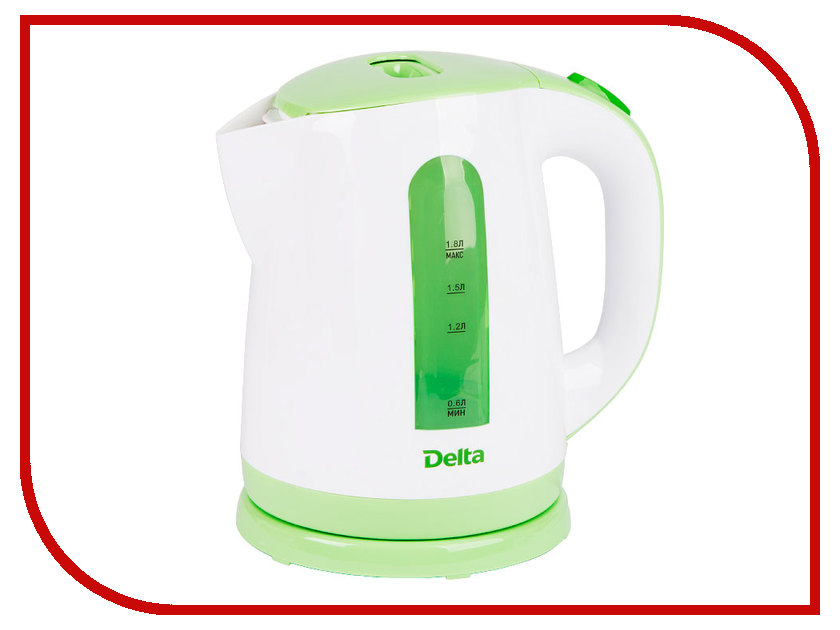 Чайник Delta DL-1326 White-Green<br>