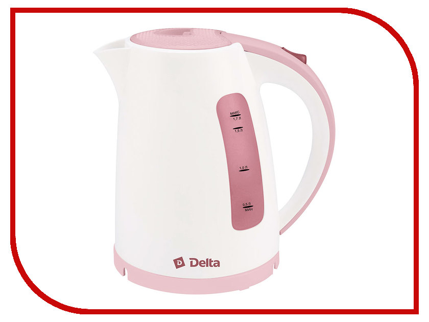 Чайник Delta DL-1056 White-Dark Pink<br>