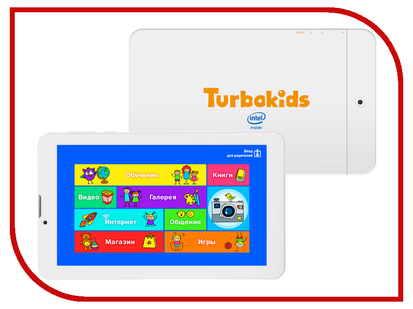 Планшет TurboKids Turbo Kids 3G White (Intel Atom x3-C3230RK 1.2 GHz/1024Mb/8Gb/GPS/3G/Wi-Fi/Bluetooth/Cam/7.0/1024x600/Android)