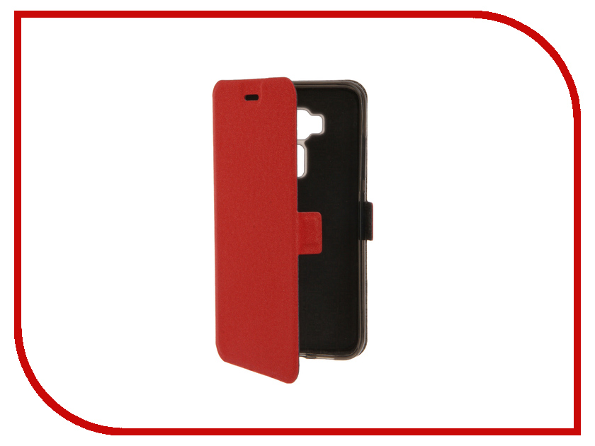 Аксессуар Чехол ASUS Zenfone 3 ZE520KL SkinBox Prime Book Red T-P-AZE520KL-05<br>