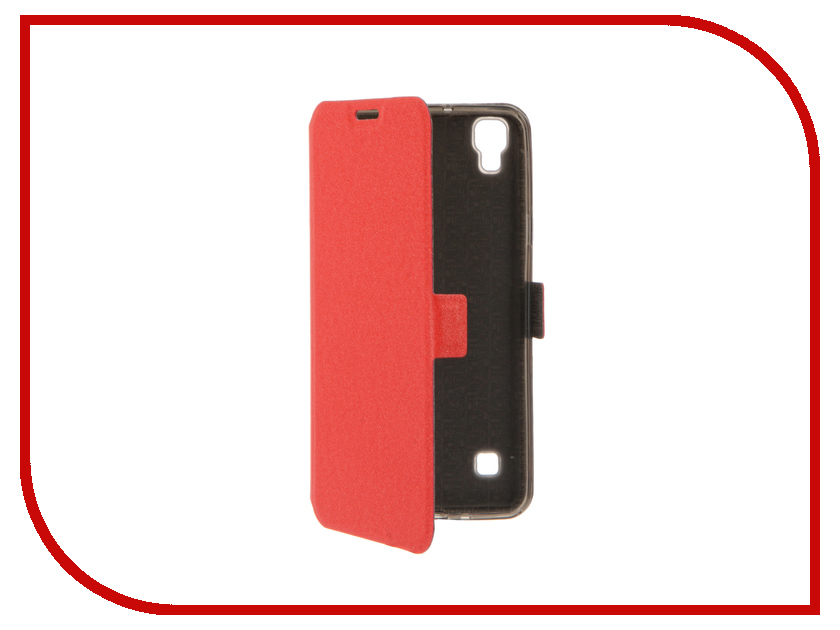 Аксессуар Чехол LG X Style SkinBox Style Prime Book Red T-P-LXS-05<br>