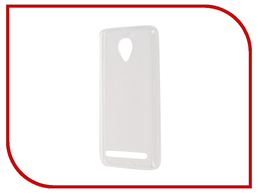 Аксессуар Чехол Lenovo Vibe C2 SkinBox Slim Silicone Transparent T-S-LVC2-005<br>