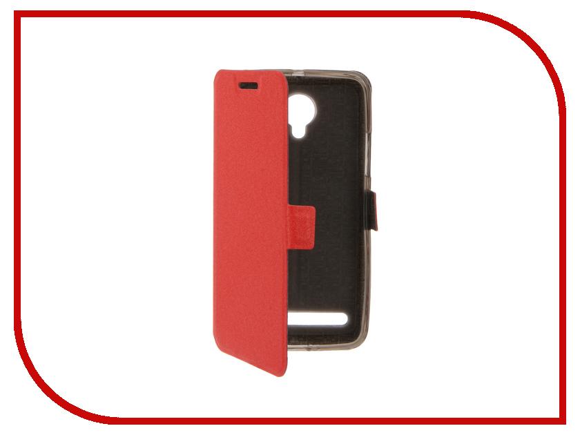 Аксессуар Чехол Lenovo Vibe C2 SkinBox Prime Book Red T-P-LVC2-05