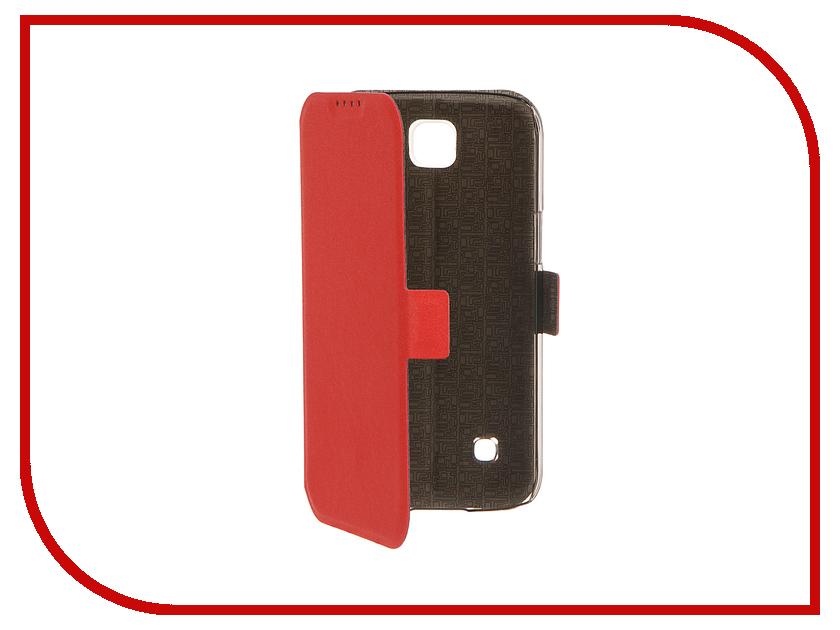 Аксессуар Чехол LG K3 SkinBox Prime Book Red T-P-LK3-05