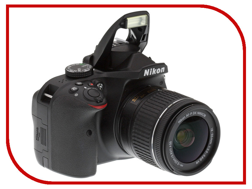 Фотоаппарат Nikon D3400 Kit 18-55 mm AF-P VR Black цена и фото