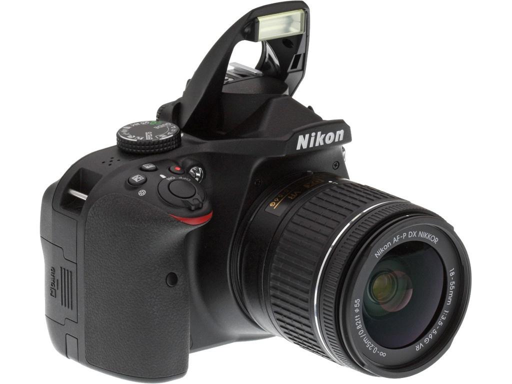 Фотоаппарат Nikon D3400 Kit 18-55 mm AF-P VR Black зеркальный фотоаппарат nikon d5600 kit af p dx 18 55mm f 3 5 5 6g vr