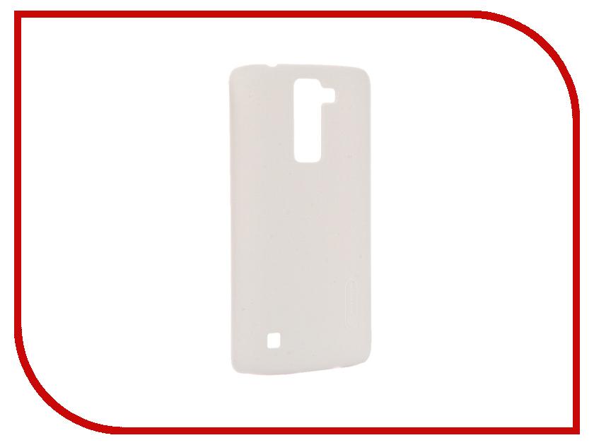 Аксессуар Чехол LG K8 Nillkin Frosted Shield White T-N-LK8-002<br>