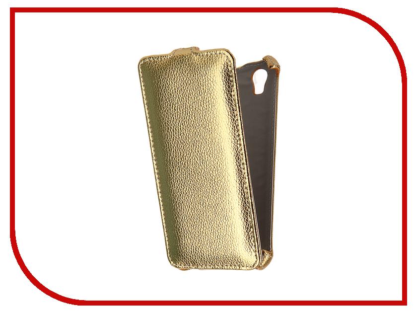 Аксессуар Чехол ZTE Blade X3 Gecko Gold GG-F-ZTEBLX3-GOLD<br>