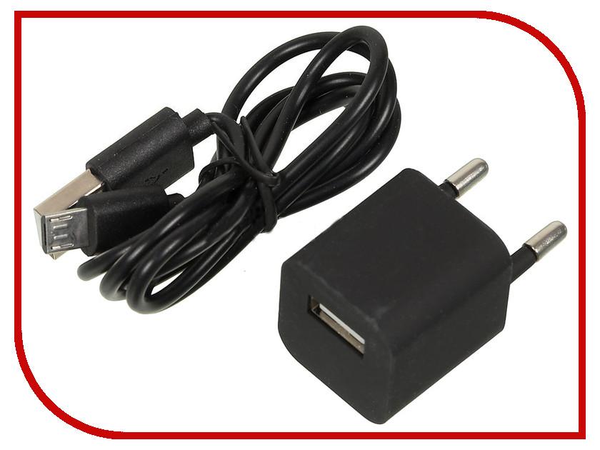 Зарядное устройство Ginzzu GA-3006B USB 1A + кабель MicroUSB Black<br>