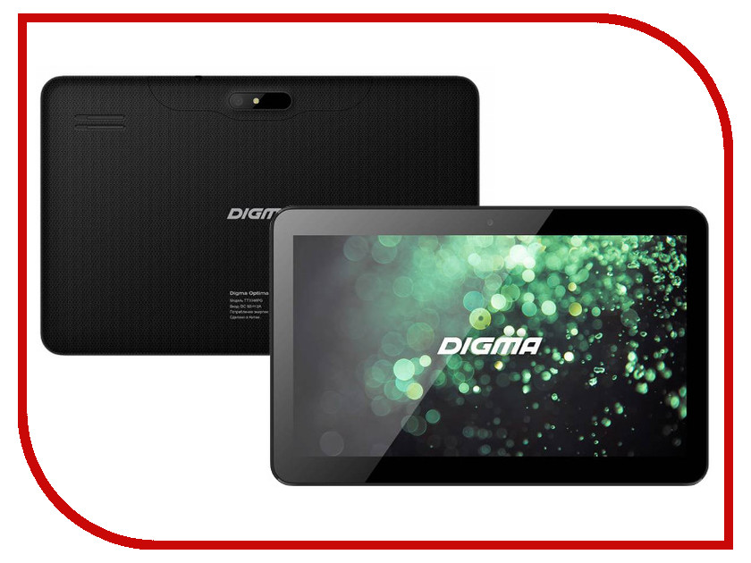 Планшет Digma Optima 1100 3G Black TT1046PG (Spreadtrum SC7731 1.2 GHz/1024Mb/8Gb/GPS/3G/Wi-Fi/Cam/10.1/1024x600/Android)<br>