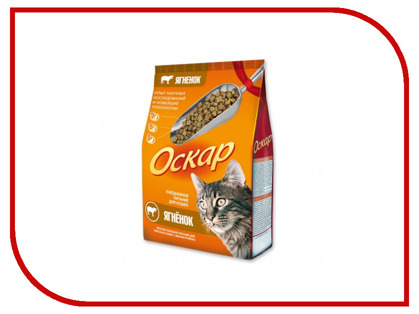 Корм Оскар Ягненок 10kg 14199 для кошек