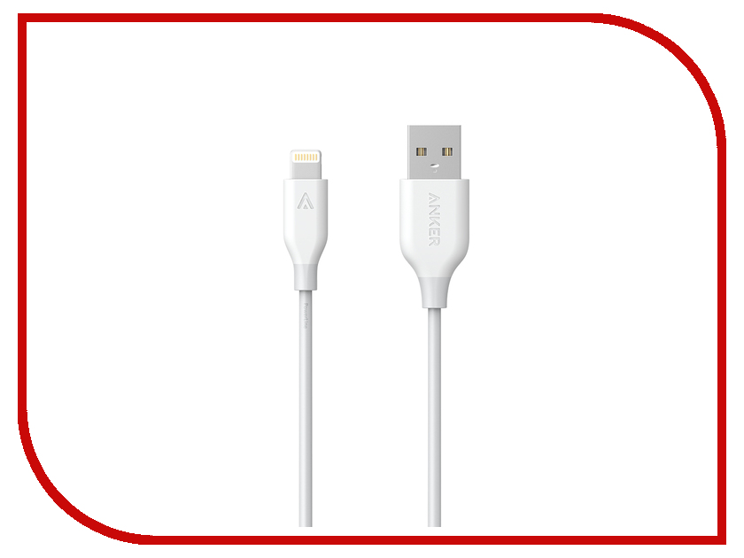 все цены на Аксессуар Anker PowerLine USB - Lightning 0.9m White A8111H21 онлайн